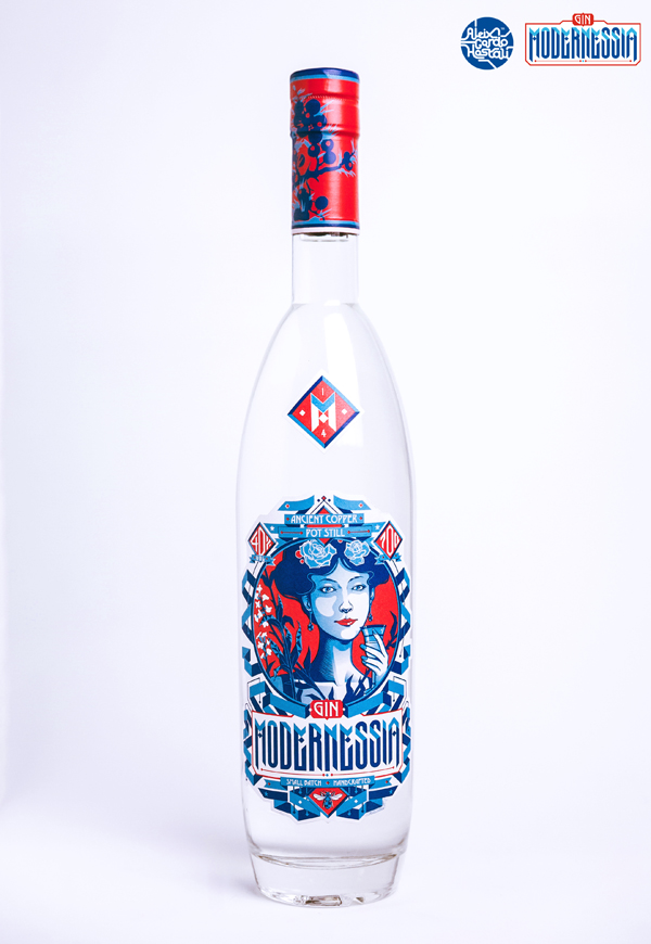 Gin Modernessia, designed by Aleix Gordo Hostau, made in Barcelona.