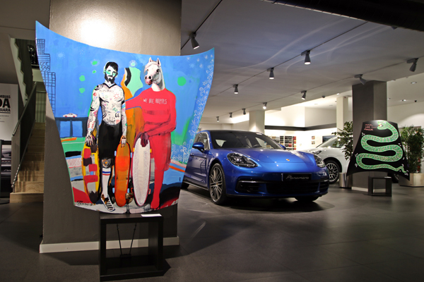 Porsche artists exhibition in Barcelona