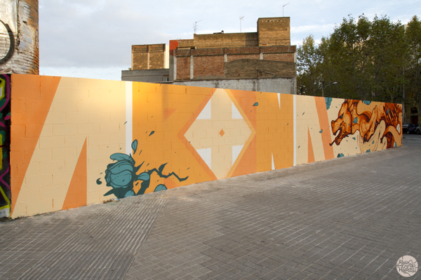 Mural for Seat Arona new car campaign in Barcelona (Spain)