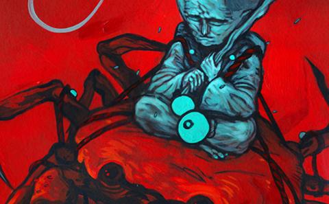 Painting of Aleix Gordo Hostau. Pintura.